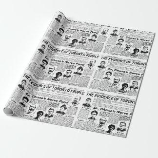 Papel De Presente Do vintage de Toronto do jornal pessoas do papel