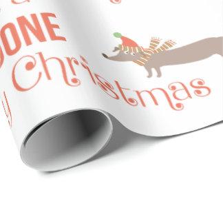 Papel De Presente Doggone Feliz Natal