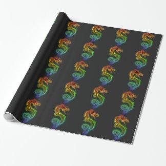 Papel De Presente Dragão do arco-íris