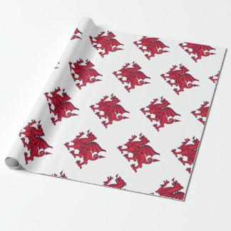 Papel De Presente Dragão vermelho de Welsh//Wales