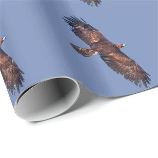 Papel De Presente Eagle dourado em vôo que envolve o papel