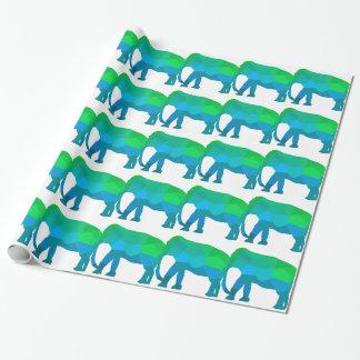 Papel De Presente Elefante 1 do mosaico