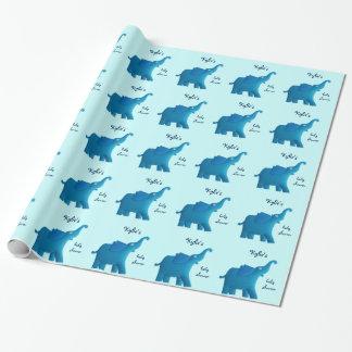 Papel De Presente elefante azul