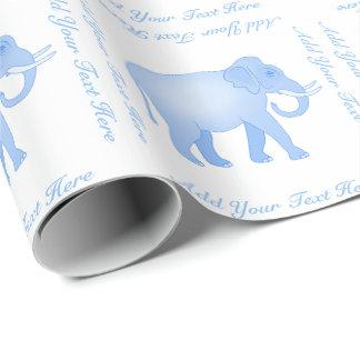 Papel De Presente Elefante azul - elefante indiano - bebé
