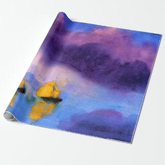 Papel De Presente Emil Nolde - mar com nuvens e os veleiros violetas