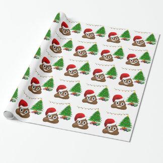 Papel De Presente emoji do poo do Natal