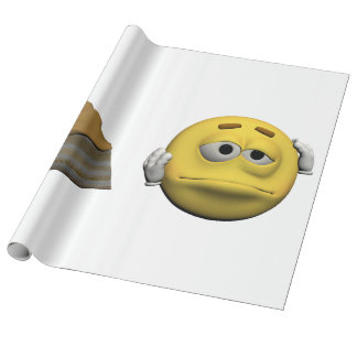 Papel De Presente Emoticon doente amarelo ou smiley