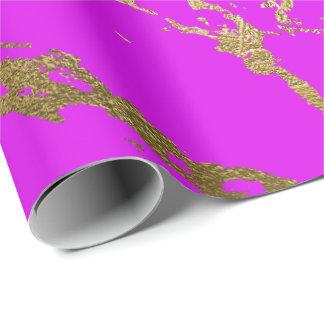 Papel De Presente Encanto brilhante do mármore cor-de-rosa vívido