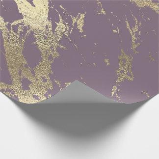 Papel De Presente Encanto brilhante do mármore mais foxier Amethyst