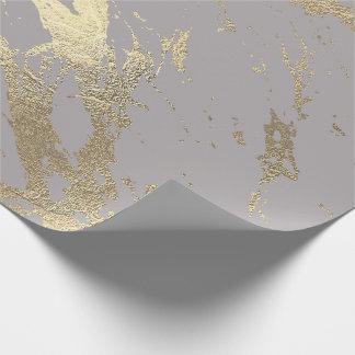 Papel De Presente Encanto brilhante do mármore mais foxier Pastel do