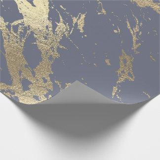 Papel De Presente Encanto brilhante do mármore mais foxier roxo