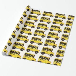 Papel De Presente Envoltório amarelo da educação do professor do