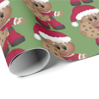Papel De Presente Envoltório da festa natalícia do pão-de-espécie do