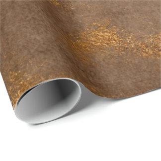 Papel De Presente Envoltório marrom afligido da oxidação de Brown do