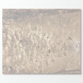 Papel De Presente Envoltório nevado do feriado da paisagem do