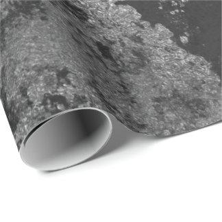 Papel De Presente Envoltório sujo cinzento afligido da grafite preta