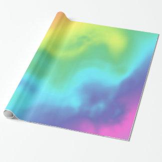 Papel De Presente Envolvimento abstrato do arco-íris cósmico