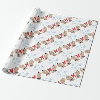 Papel De Presente Envolvimento Wheaten do Natal de Terrier