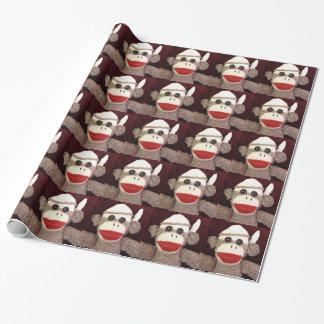 Papel De Presente Ernie o papel de envolvimento do macaco da peúga