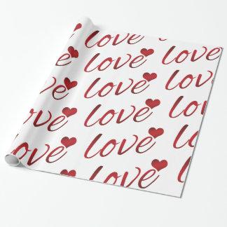 Papel De Presente Escuro - amor vermelho com um coração