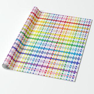 Papel De Presente Espectro e branco mais largos abstratos do