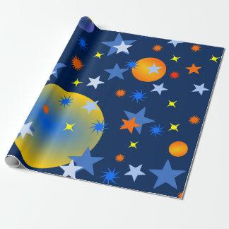 Papel De Presente Estrelas e planetas celestiais