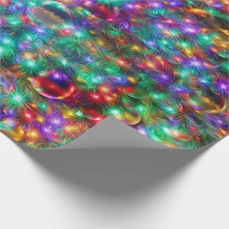 Papel De Presente Estrelas Sparkling do Natal luxuoso