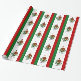 Papel De Presente eu amo México - bandeira mexicana