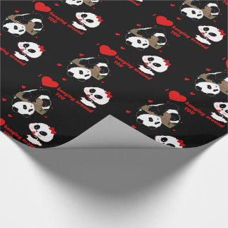 Papel De Presente Eu amo pendurar em torno de você pandas
