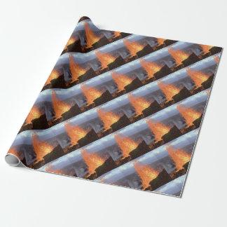 Papel De Presente explosão do vulcão da lava