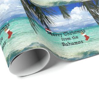 Papel De Presente Feliz Natal dos Bahamas
