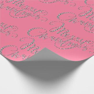 Papel De Presente Feliz Natal - impressão cor-de-rosa do leopardo