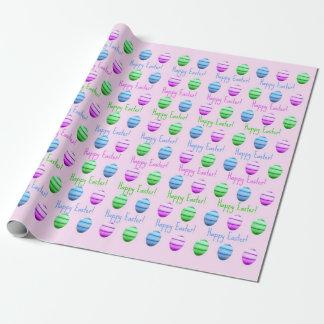 Papel De Presente Felz pascoa colorido dos ovos da páscoa