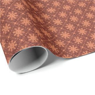 Papel De Presente Feriados líquidos dos flocos de neve de cobre