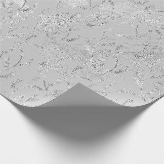 Papel De Presente Festão floral de mármore do louro das folhas das