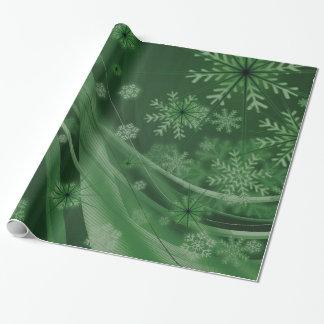 Papel De Presente Festivo verde