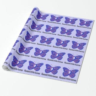 Papel De Presente Fita da consciência da borboleta da artrite