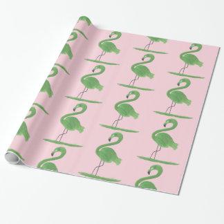 Papel De Presente Flamingo