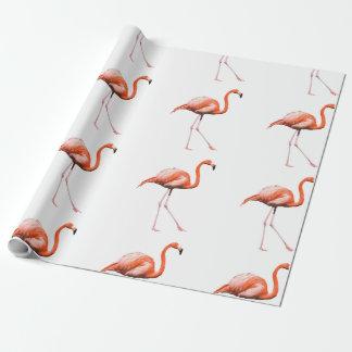 Papel De Presente Flamingos de marcha