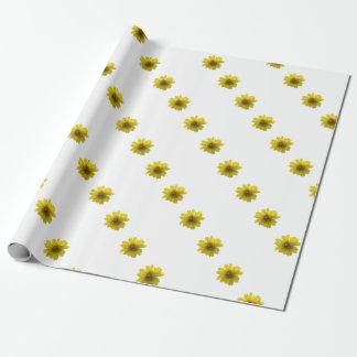 Papel De Presente Flor amarela