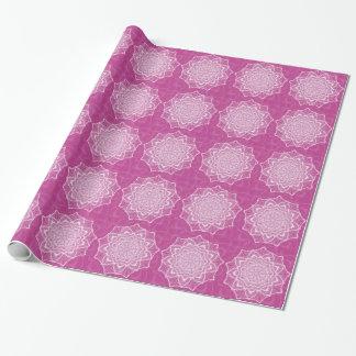 Papel De Presente Flor cor-de-rosa de Chakra, boho, idade nova,