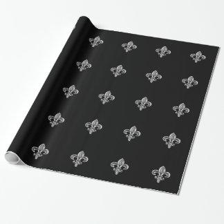 Papel De Presente Flor de lis preta de cristal