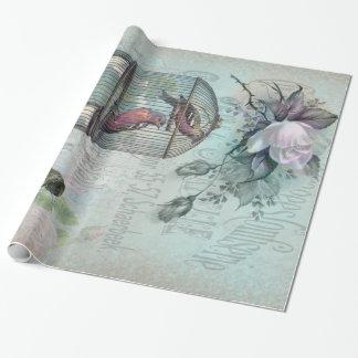 Papel De Presente Flor do Birdcage