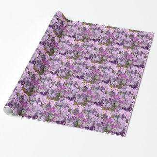 Papel De Presente Floral no lilac