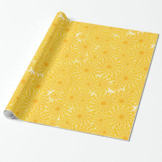 Papel De Presente Flores amarelas alegres dos dentes-de-leão