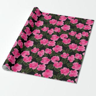 Papel De Presente Flores cor-de-rosa brilhantes brilhantes com