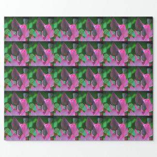 Papel De Presente Flores cor-de-rosa de Lotus