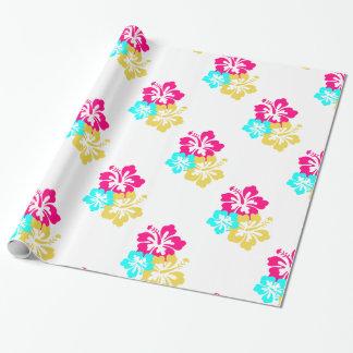 Papel De Presente Flores havaianas do hibiscus