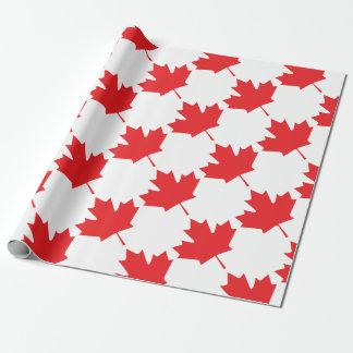Papel De Presente Folha de bordo canadense