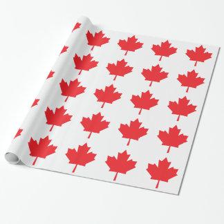Papel De Presente Folha de bordo canadense da bandeira de Canadá